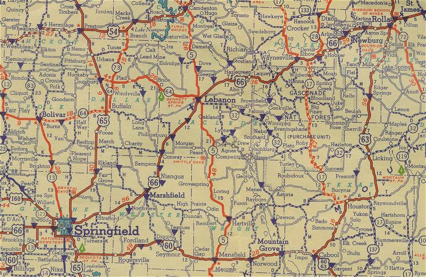 Map Of Central Missouri Missouri Map - Highway map of missouri