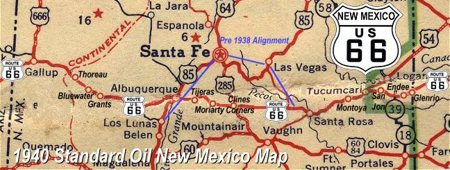 Santa Fe Pre 1938 Alignment of New Mexico Route 66