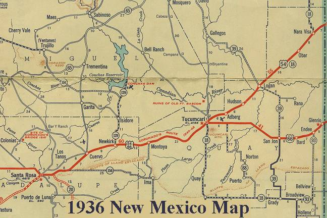 New Mexico Route - Detailed map of new mexico