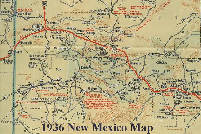 New Mexico Route - Maps of new mexico