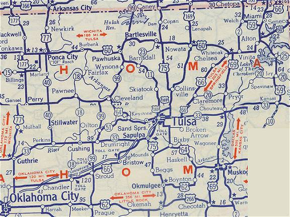 Oklahoma Route - Okla map