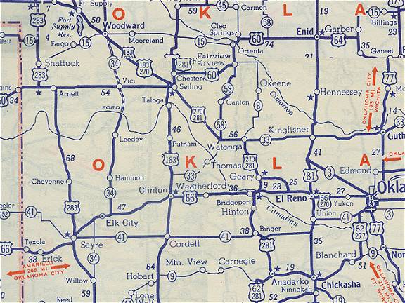 Oklahoma Route - Oklahoma highway map
