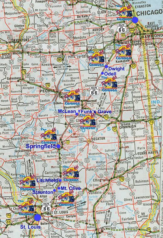 Illinois Route - Map in illinois
