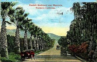 Foothill Blvd. in Monrovia 1923