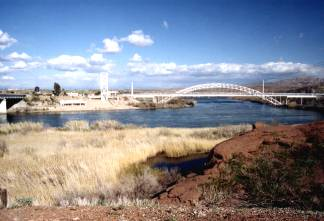 Colorado River and the Old Trails Arch Bridge