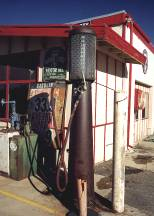 Vintage Gas Pumps at the Summit Inn