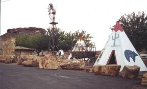 Teepees at Geronimo Trading Post