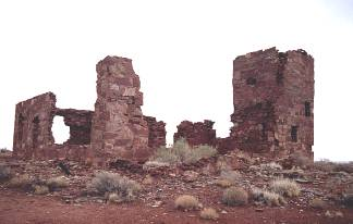 Stone Ruin on Route 66 at Meteor Crater