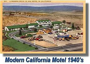 Modern California Motel - 1940