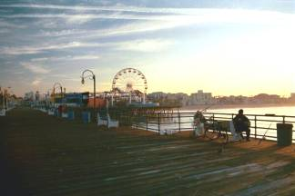 Sunrise at the Santa Monica Pier