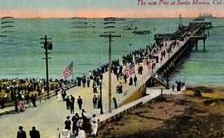 Post Card of Santa Monica Pier Postmarked 1910