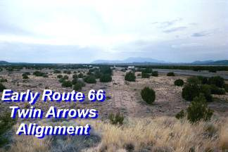Early Route 66 Alignment at Twin Arrows