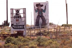 Visitors are NOT Welcome at Two Guns Anymore