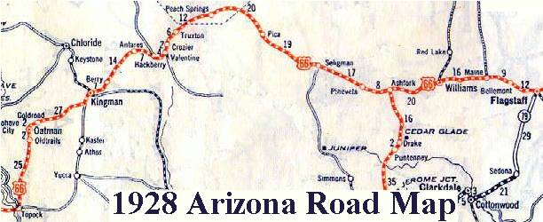 Detailed Route 66 Map >> Arizona Route 66