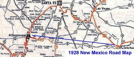 Santa Fe- Pre 1938 Alignment of New Mexico Route 66
