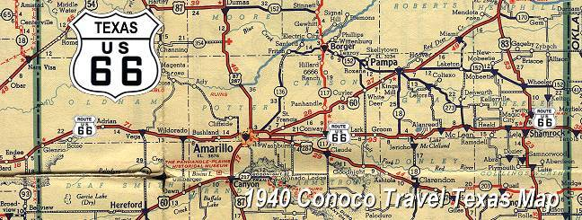 Route 66 Texas Map