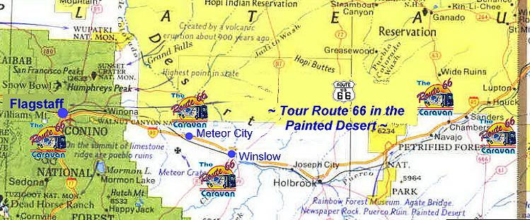 Map Of East Arizona.Arizona Route 66