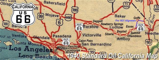 Travel Route 66 In California